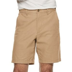 Men's Linen-Blend Flat-Front Shorts NWT